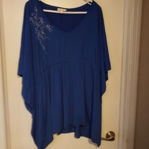 Stretchy Blue Dolman Top